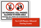 No Cell Phone Allowed Signs