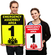 Order Matching Assembly Area Signs