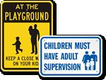 Parental Supervision Signs