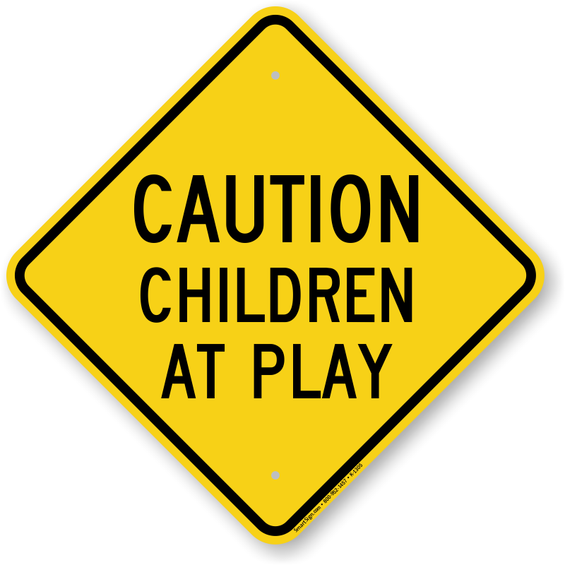 """Caution Slow Down Children At Play /""""A/"""" Frame Sign Yellow Stand Sydney Stock"""