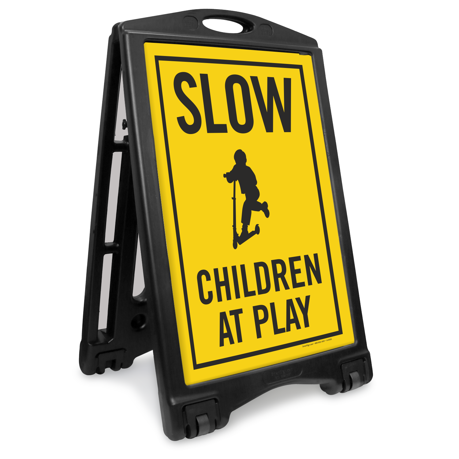 Children At Play with Graphic Sidewalk Sign, SKU: K-ROLL-1062