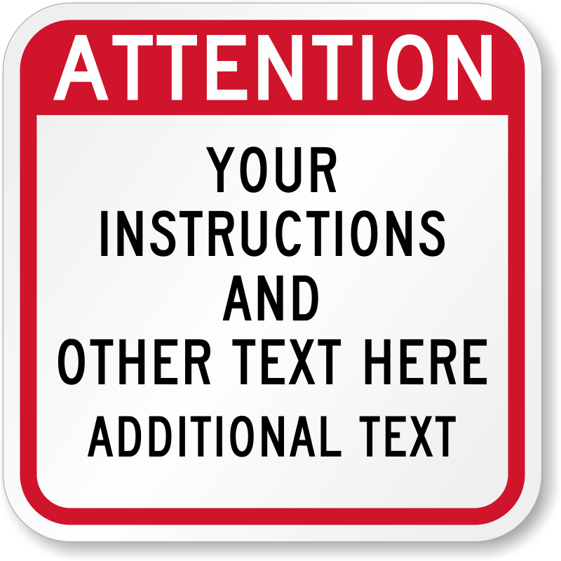 attention sign template
