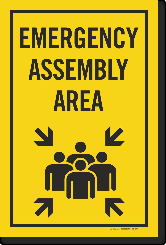 Emergency Assembly Area Sign Sku K2 4376
