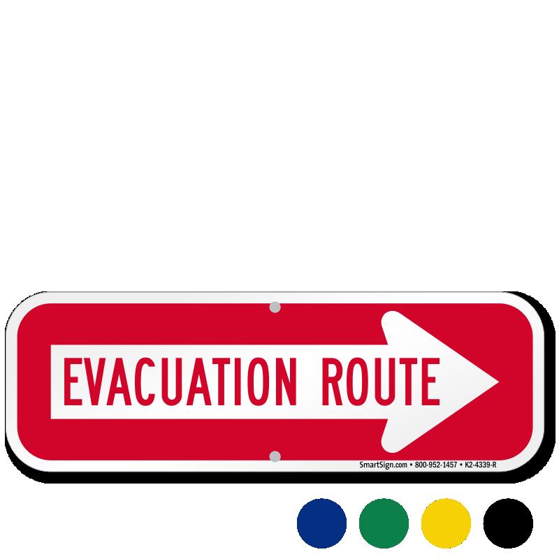 Evacuation Route Right Arrow Sign Sku K2 4339 R