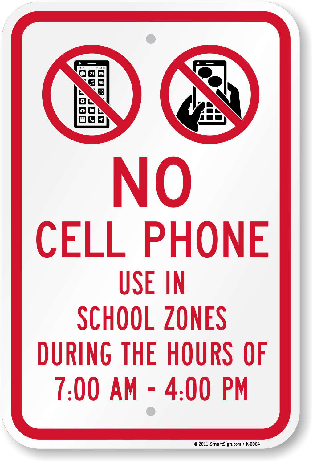No Cell Phone In School Zone Sign Unbeatable Prices Sku