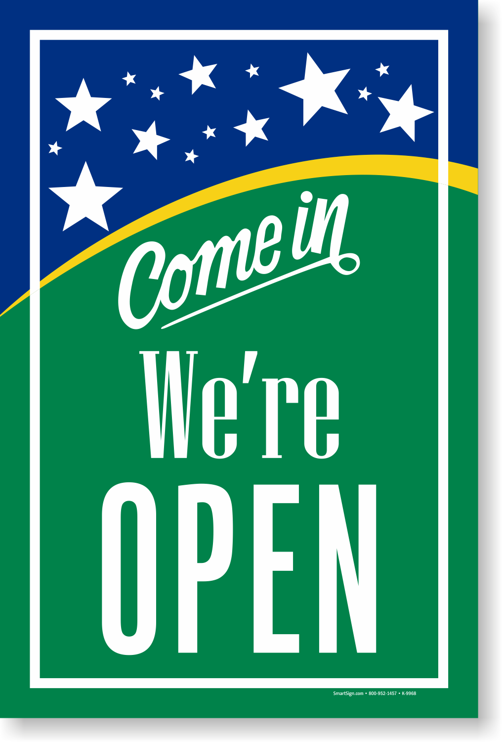 Come In We Re Open Sign Store Sign Open Closed Sign