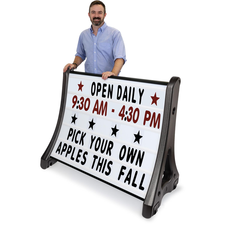 QLA Quick-Load A-Frame Roadside Sign Holder, SKU - K-Roll-1077