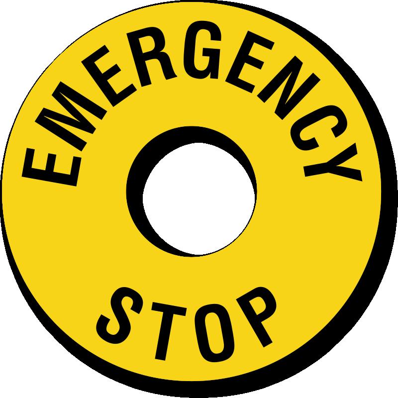 Emergency Stop Ring Label, SKU