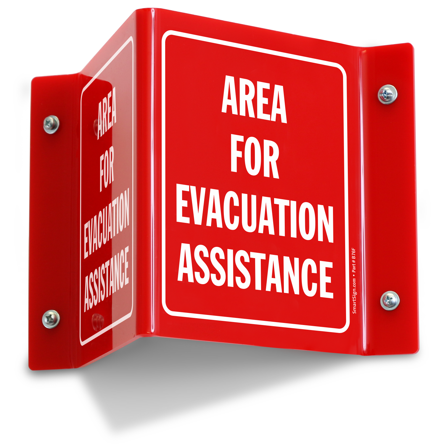 Area For Evacuation Assistance Projecting Sign Sku S2 1762