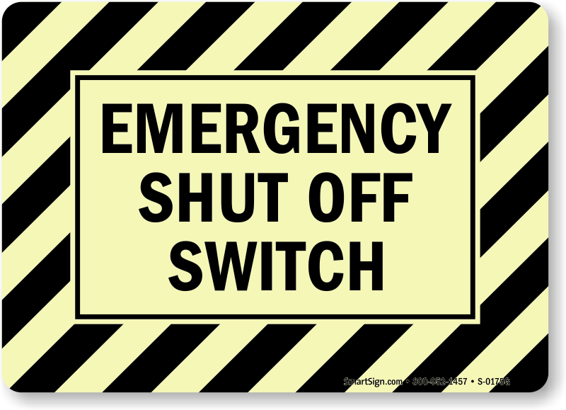 Emergency shutdown switch analog and digital video in multimedia