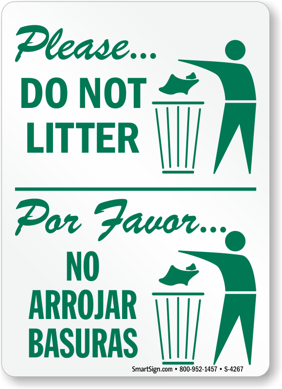 Please Do Not Litter With Graphic Sign Pictures to pin on Pinterest