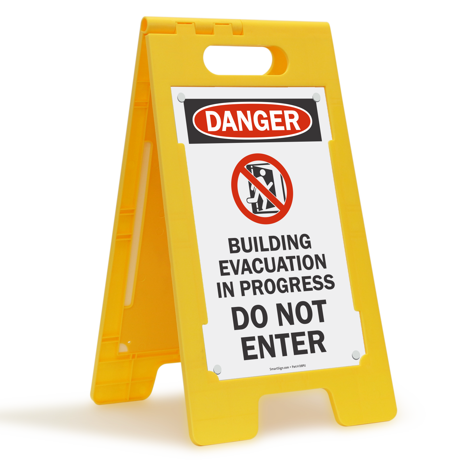 Danger Do Not Enter Standing Floor Sign Sku Sf 0494