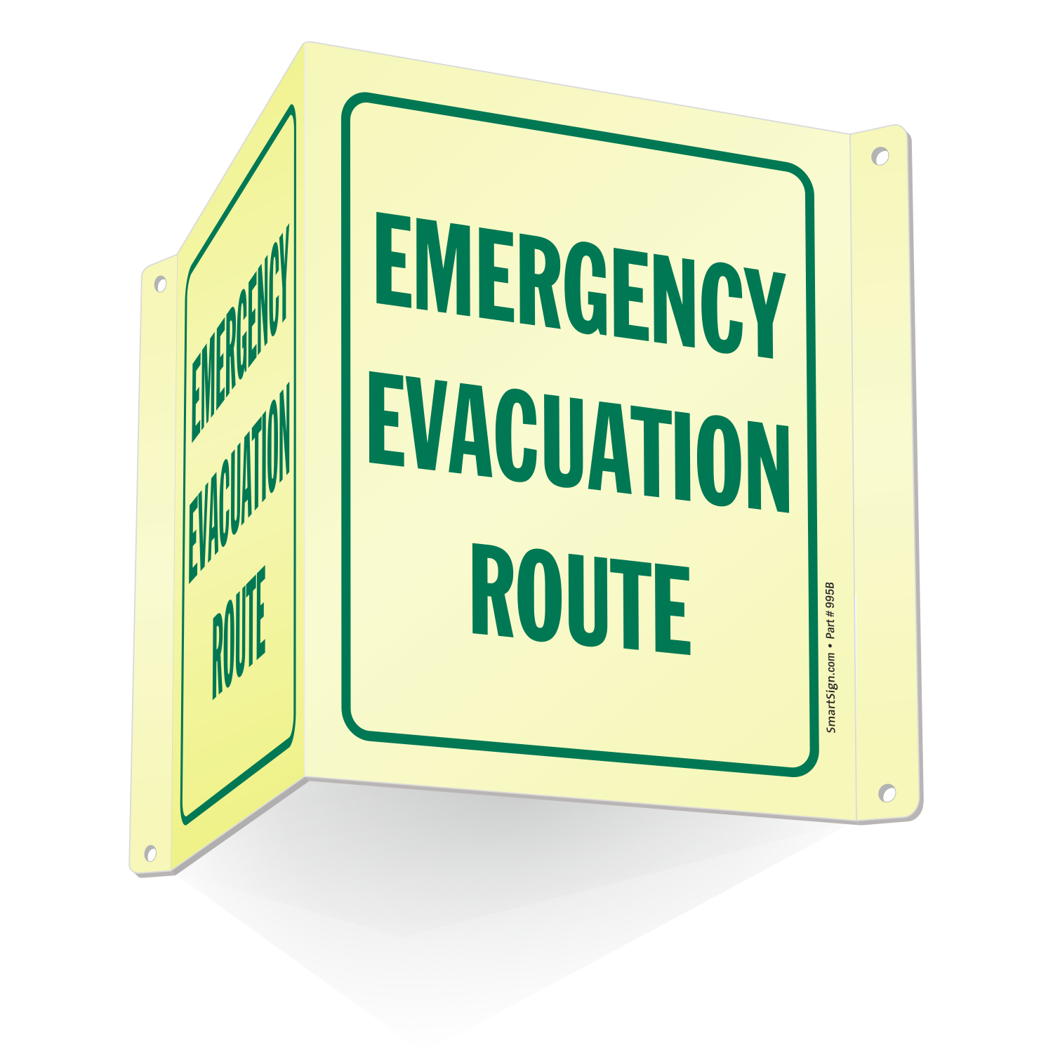 Emergency Evacuation Route Projecting Sign Sku S2 1757