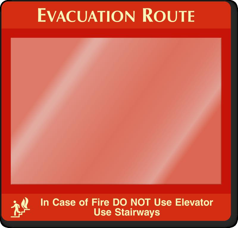 glowing evacuation map holder sku s 6713