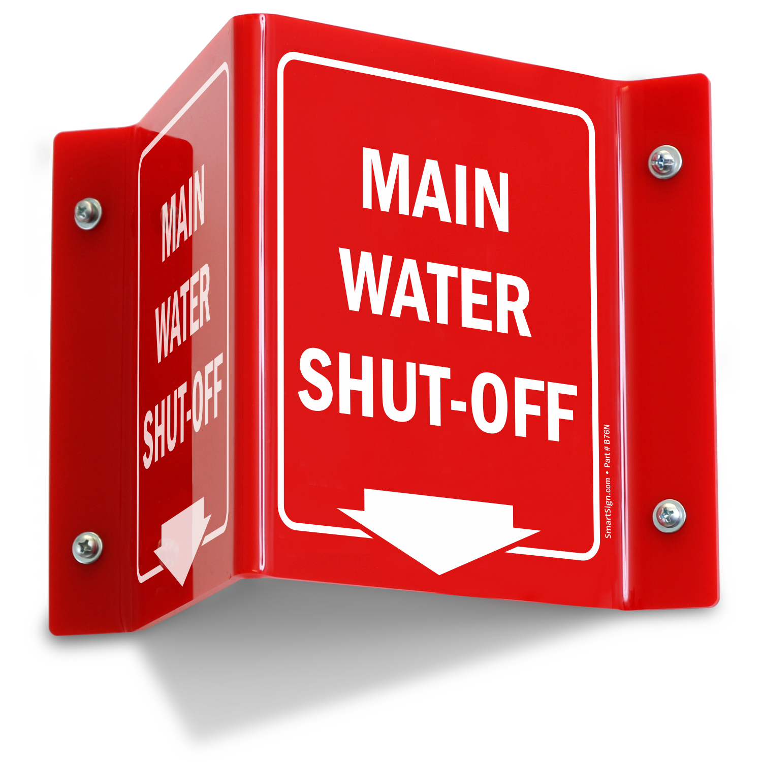Main Water Shut Off Projecting Sign Sku S2 1784
