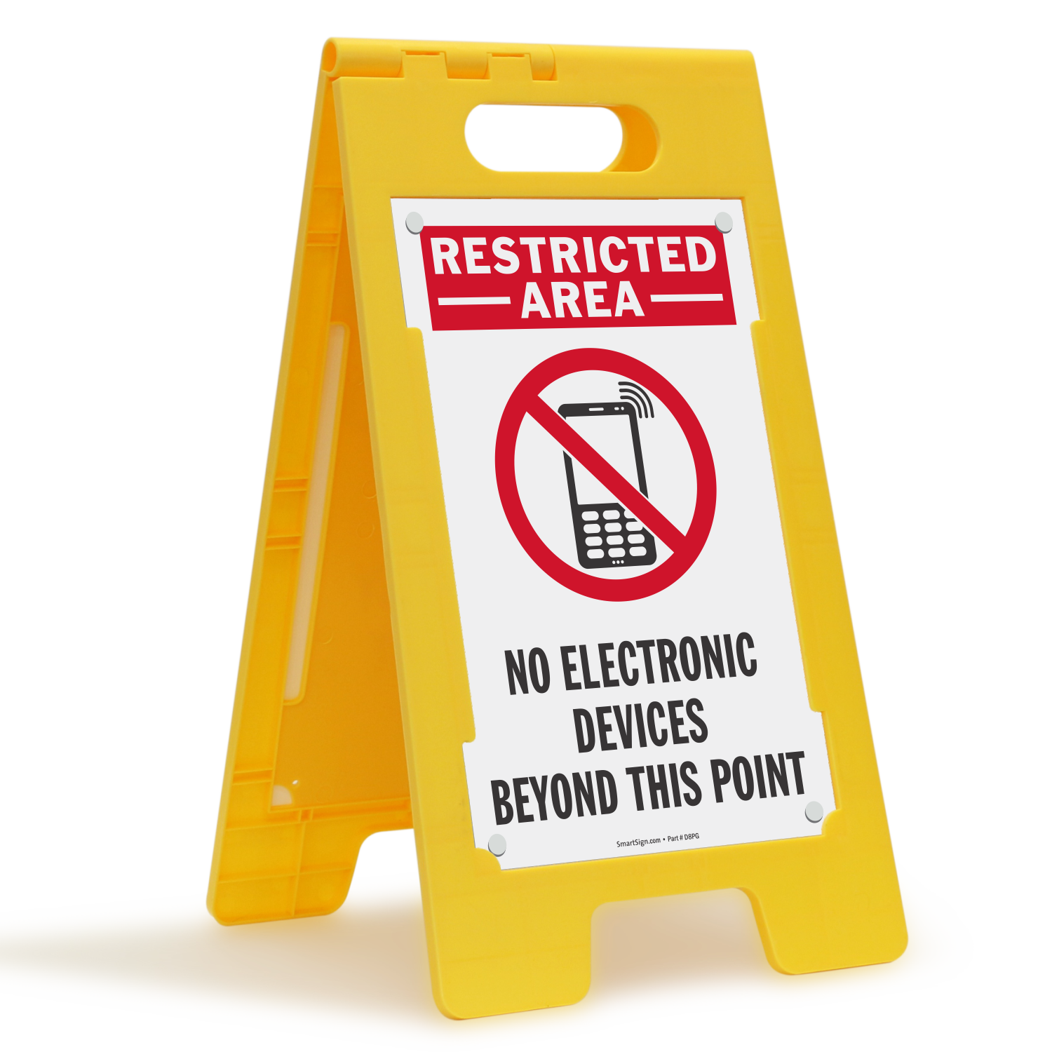 No Electronic Devices Beyond This Point Sign Sku Sf 0482