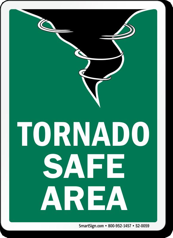 Tornado Safe Area Fire And Emergency Sign Sku S2 0059