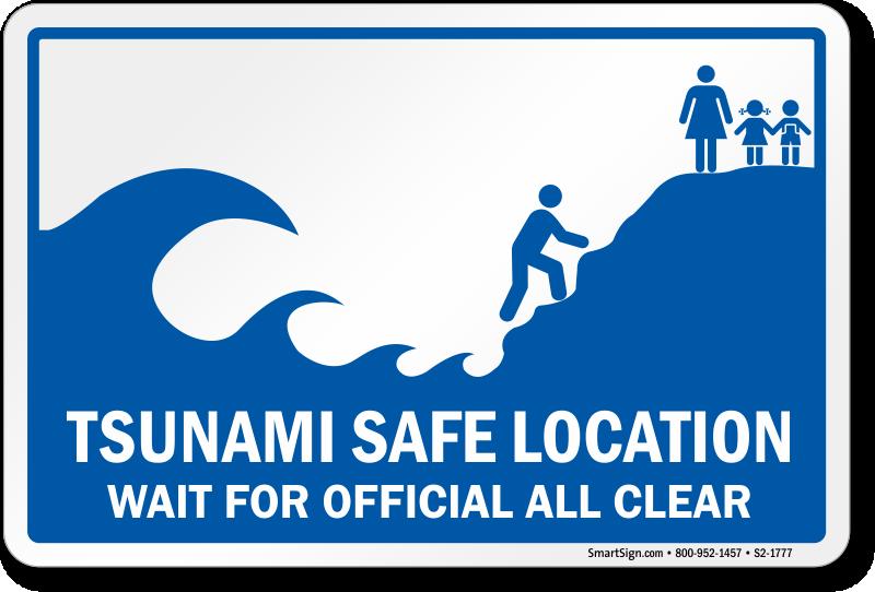 tsunami safe location sign sku s2