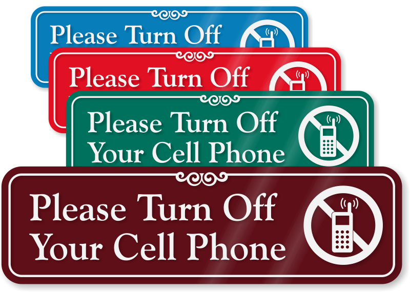 Well known Turn Off Cell Phone Signs | SmartSign JM56