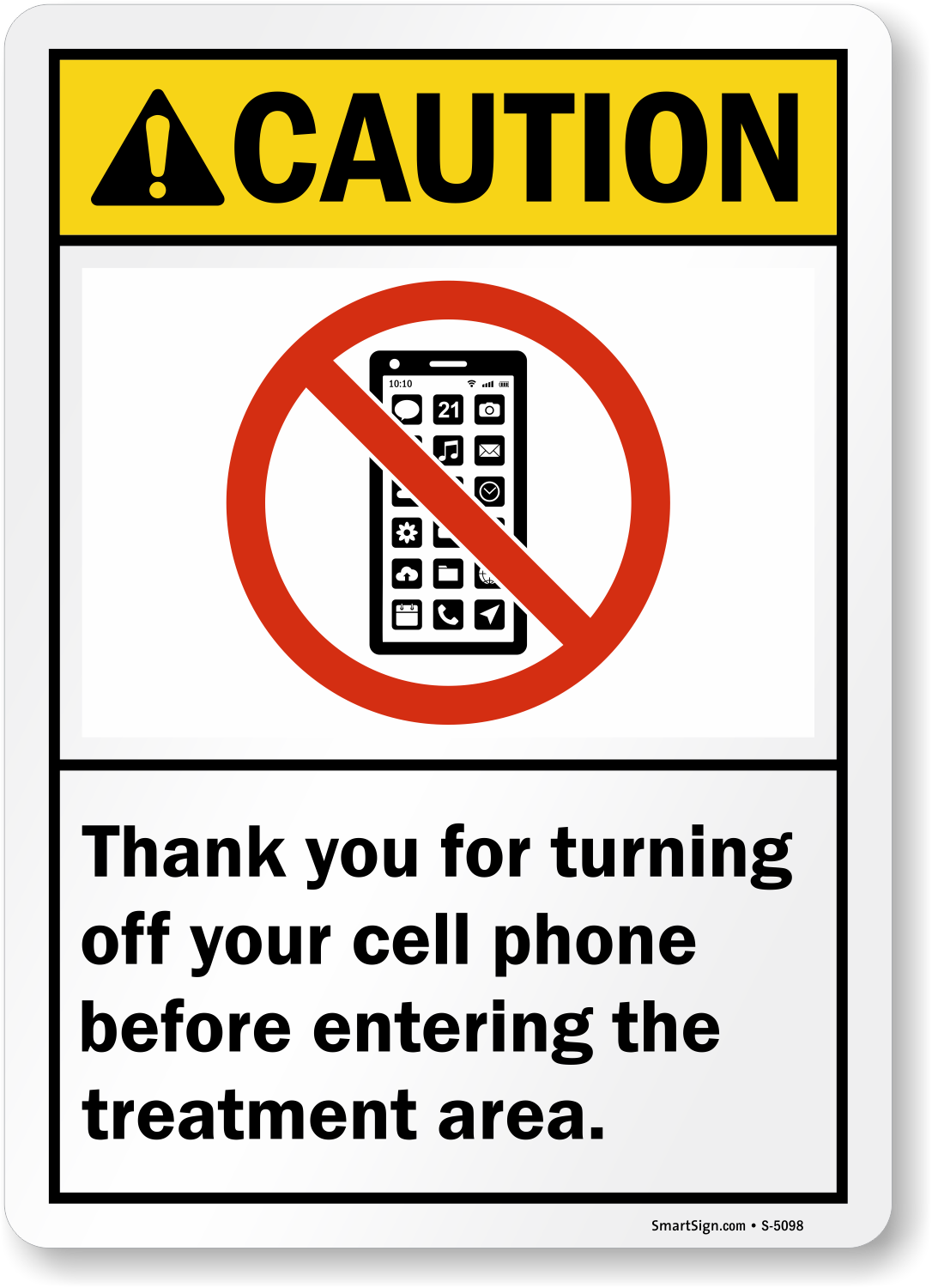 turning off your cell phone sign