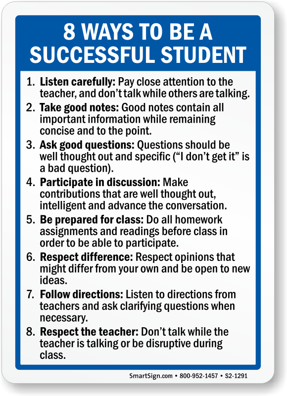 how to become a successful student Getting good grades helps a student get into a competitive college, which can eventually lead to a rewarding career but as educator ed bain says, passion for learning should trump other reasons for becoming a good student.