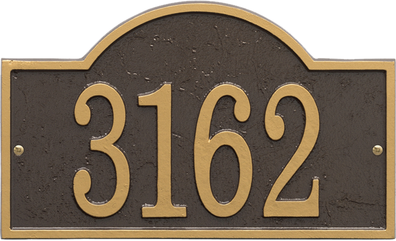 Fast And Easy Arch House Number Plaque Signs Sku Wp 3002
