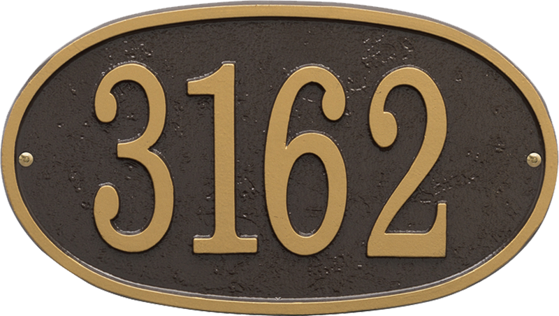 Fast And Easy Oval House Number Plaque Signs Sku Wp 3003