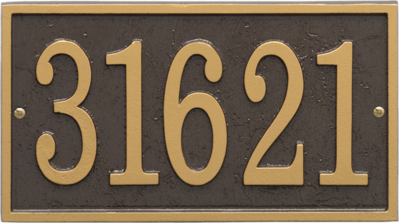 Fast And Easy Rectangle House Number Plaque Signs Sku Wp 3001