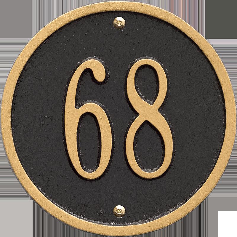 Round Petite Wall Address Plaque Signs Sku Wp 3043