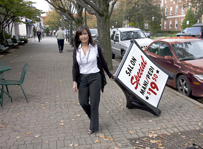 Portable Quick Load A Frame Sidewalk Sign White Delux