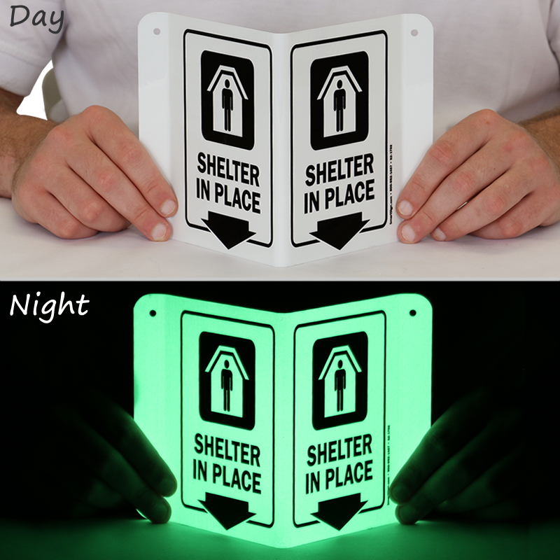 Shelter In Place Projecting Glow Sign Sku S2 1702 G
