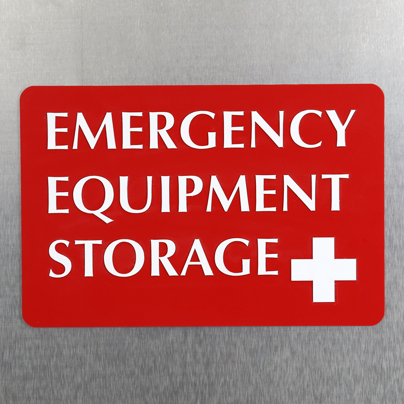 Emergency Equipment Storage Sign With Plus Symbol Sku