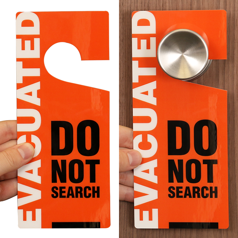 ... Evacuated Two Sided Door Hang Tag ...