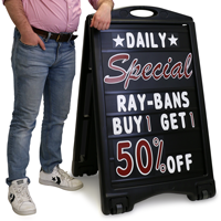Changeable Message Board Sign Kit - Pro (Black)