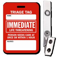 Immediate Life Threatening Triage Tag