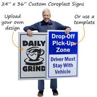 Large custom plastic signs