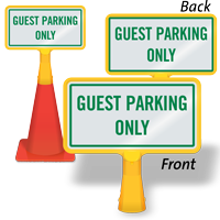 Guest Parking Only ConeBoss Sign
