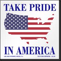 Take Pride In America Flag Label