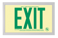 Double-sided EXIT Sign in brushed aluminum frame