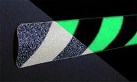 Anti-skid safety walk strip, plain all photoluminescent