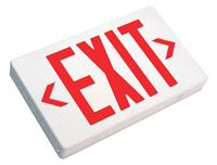 LED Exit Sign, Double Faced with Battery