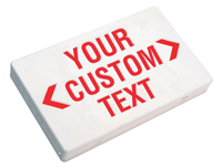 Custom Exit Sign - Red