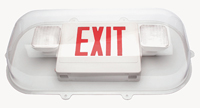 Large Exit Sign with Emergency Light Cover