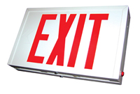 New York-Approved Steel LED Exit Sign