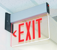New York-Approved Edge-Lit Exit Sign, LED Lighting