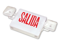 Double-Sided Salida Combo Exit Sign, Battery Backup