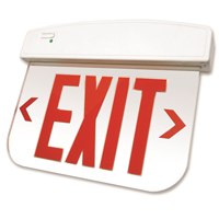 Edge-Lit Thermoplastic LED Exit Sign