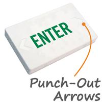 Enter LED Exit Sign with Battery Backup