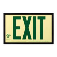 Photoluminescent  Framed Green Acrylic Exit Sign