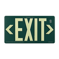 Green Recyclable  Non-Toxic  and Non-Radioactive photoluminescent Exit Sign